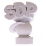 スチャダラパー ロゴマーク 3D(石膏カラー)