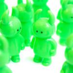ミニウアモウ&ミニおばけちゃん ブライトグリーン