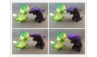 猫怪獣決戦セット ニャギラ対サメ