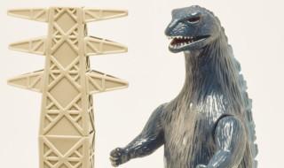 マルサンのソフト怪獣シリーズ 世紀の東宝怪獣 クラシックゴジラ350&鉄塔セット