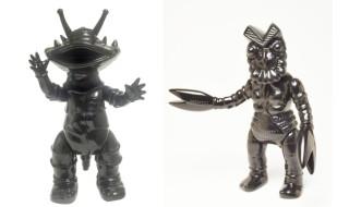 マルサンのソフト怪獣シリーズ 漆黒オブジェコレクション カネゴン450  バルタン星人450