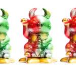 オリジナル招き猫 特別彩色版 MAO MAO UAMOU X'mas coloring