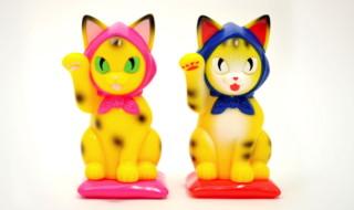 縁起物百貨店オリジナル招き猫 招き化け猫 又之助 mAAch限定版【DOT】