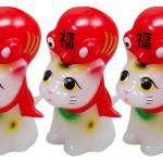 縁起物百貨店限定デザイン 化猫衣蛸 福達磨ver.緑(猫又)