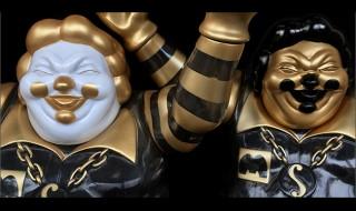Ron English x BlackBook Toy EVIL MC Golden Boy