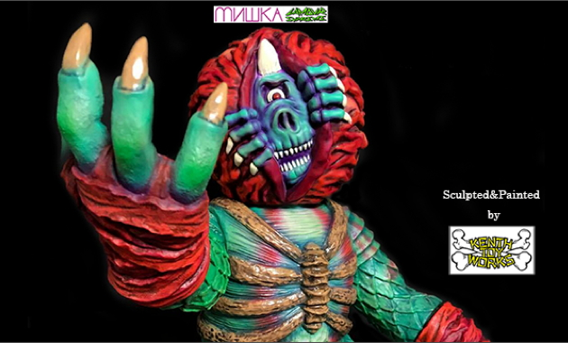 Lamour Supreme x Mishka THE Beast Painted by Kenth Toy Works