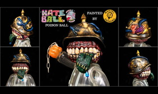 Frank Kozik x BlackBook Toy A Clockwork Hateball Poison Ball painted by Marvel Okinawa