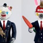 ソフビ界にNEW WAVE現る! 新プロジェクト「ジェノメンズ」誕生! まずSwimmyDesignLab代表・吉水卓氏の「LION POP/ライオンポップ」「USAGI ROBBOT/ウサギロボット」を公開!