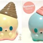 キャラクターデザイナー・せり☆のりか氏がソフビデビュー作「怪獣アイシー」の「バニラ味」と「ラムネ味(TTF2017記念カラー)」を受付時期をずらして抽選販売!