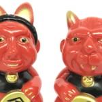 2018年1月7日の「スーパーフェスティバル76」へ出店するangel abbyはお正月カラーの「招き地獄男と招き親父 指人形セット」を発売!