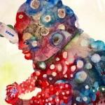 2018年3月23日よりショップ・ソフビクルーザー コスモナイトαにて画家・ナガモトマイ氏が「小さな個展『月の裏側』」を開催!