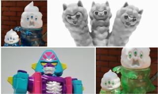 2018年7月29日開催の「WF2018夏」よりアートジャンキー東京が最新作「三首怪獣キングパカラ」を始め「超電撃」「とぐろ怪獣シットン&ミニシットン」を準備中!