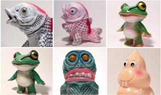 2018年11月10日の「デザインフェスタvol.48」へ怪獣芸術家・ピコピコ氏が出店! そこで極彩色な「コイジャラス」「コイボーズ」「ケロボーイ」「ボーボー指人形」「ビリケン君」などを発売!