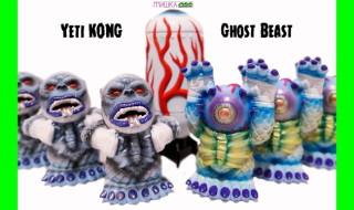 2019年3月25日18時よりBlackBook ToyがMISHKA × Lamour Supreme両氏との新作「Yeti KONG」&「Ghost Beast」の「micro run painted by BBT」を発売開始