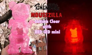 2019年4月8日0時よりBlackBook Toyがこの季節にぴったりな最新作「Mousezilla Sakura Clear with RED GID mini」を発売開始