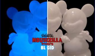 2019年5月31日0時よりBlackBook Toyが美しいブルー蓄光の「Mousezilla BL GID with min」を発売開始!