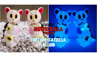 2019年6月21日0時よりBlackBook Toyがブルー蓄光な「Fortune Cat Mousezilla painted by BBT」を発売開始!