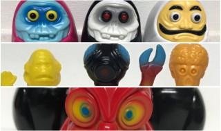 2019年7月28日の「WF2019夏」で丸八玩具が新色[ギョロだるま]、「世界のバケモノ図鑑 FLY」、そして[縁起物シリーズ]から「LUCK (PMCV)」を発売!
