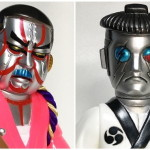 2019年7月28日の「WF2019夏」へSamuraiDollが出店! そこで「座頭ロボ双六 蛍光ピンク 歌舞伎メタルVer」「剣客ロボ雷蔵 白家紋」などを発売!