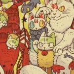 よろず雑貨えびねこ屋として活動中のフリーイラストイレーター・yasu氏が2020年の新春早々にFEWMANY銀座ロフト店ギャラリースペースにて個展「よろず雑貨えびねこ屋 初売り展示」開催!