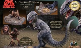 2020年3月24日17時締切でX-PLUSの少年リック限定「『恐竜100万年』アロサウルス vs.トゥマク ソフビ フィギュア セット」を予約受付中!