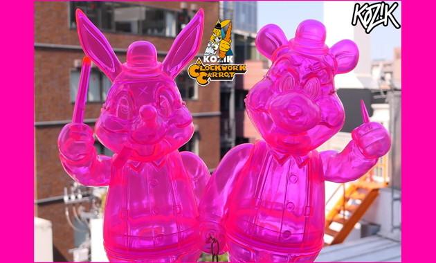 2020年5月1日0時よりBlackBook ToyよりFrank Kozik × BlackBook Toyの 「Lil Alex and Dim Clear Neon PK」発売開始!