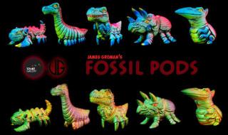 ロスアンゼルスのTOYARTGALLERYにてJames Groman氏デザインの「Fossil Pods Various Colors - Bright or Shiny」を現地時間2020年5月29日12時より発売開始!