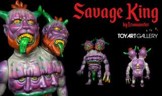 TOY ART GALLERY × Blood Guts Toysから最新作到着! Blood Guts Toysのizumonster氏デザインによる「SAVAGE KING - Vicious Purple Lottery」を抽選販売!